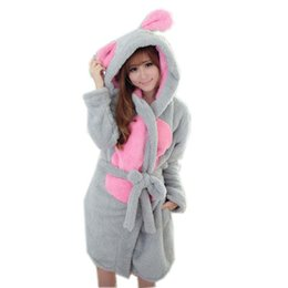 fc262d0c56 Wholesale- Autumn Winter Casual Hooded Robes Femme Women Couple Thickening Bathrobe  Nightgown Fashion Pajama Lounge Sleepwear