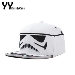 Wholesale Hat War - Adjustable Men Snapback Caps Hip Hop Star War Cap Baseball Cap Bboy Kpop Cavalry Letter Brim Baseball Hats Bone YY60241