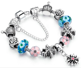 Wholesale Good Fashion Stores - fashion ladies bracelet charms Murano glass beads jewelry store,wholesale jewelry chain bracelets with good quality