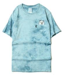 Wholesale Dip Dyed Shorts - summer ripndip tshirt for men t-shirt women streetwear short sleeve palace t shirt tee tie dye rip n dip t-shirts