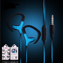 Wholesale Headphones Mic For Phones - 2017 Ear Hook Sport Earphone Bass Music Headset handsfree Headphone With Mic 3.5mm Earbuds For All Mobile Phone MP3 Running Headset