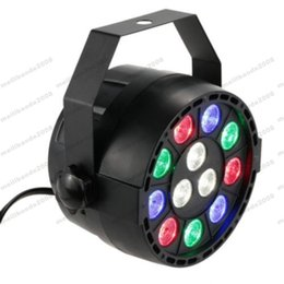 luz de escenario de alta potencia láser Rebajas 12W 12 LED Flat Par Stage Light RGB Lámpara Club DJ Party DMX512 Control de iluminación ENVÍO GRATIS MYY