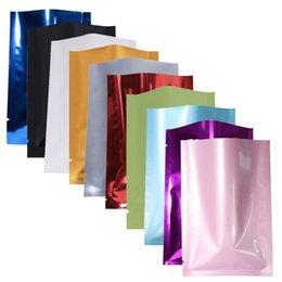Wholesale Vacuum Bagging - Variety of Sizes recyclable packing bag heat sealing open top aluminum foil Vacuum Package Pouch red flat Mylar bag 100pcs lot