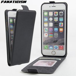 Wholesale Vertical Flip Wallet Case - Luxury Vertical Flip Leather Case For Apple iPhone 7 Plus iphone 6 6s Plus Cover With Card Holder Coque