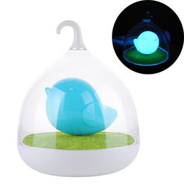 Wholesale Touch Light Dimmers - Wholesale- Fashion 3D Bird Cage USB Rechargeable LED Baby Night Light Beside Lamps Dimmer Vibration Touch Sensor Night Lights