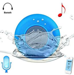 Wholesale portable shower floor - Portable Subwoofer Shower Waterproof Wireless Bluetooth Speaker Car Handsfree Call Music Suction Mic For IOS Android Phone