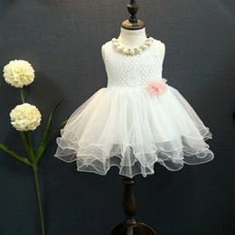 Wholesale First Communion American Girl - High Quality White First Communion Dresses For Girl Tulle Lace Infant Toddler Pageant Flower Girl Dress for Wedding and Birthday