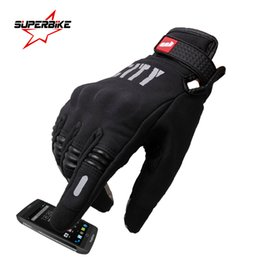 Wholesale Brown Leather Motorcycle Gloves - Wholesale- Motorcycle Gloves Summer Touch Screen Cycling Racing Glove Full Finger Motorbike Luvas Sports Protect Guantes de la motocicleta