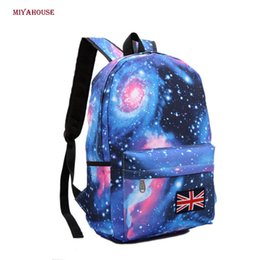 Wholesale Print Galaxy Backpack - Wholesale- Miyahouse Girls School Bags For Teenage Galaxy Stars Universe Space Printing Backpack Women Fashion Canvas Women Backpacks