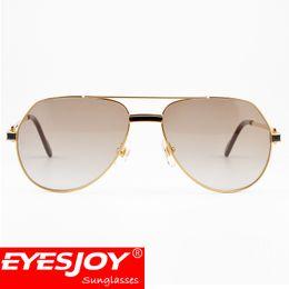 Wholesale Designer Gems - Brand Metal Frame Bright Black Gem Decorative Designer Sunglasses Driving Sports Fashion Sunglasses for men with Glasses Box