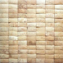 coco de azulejos de mosaico de cáscara de coco estilo sudeste de coco para decoración de casa interior placas de decoración de azulejos CCM12 desde fabricantes