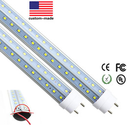 Wholesale Milky Tube - 4ft Led Tube Light T8 V-Shaped 1200 4 ft LED Tube Lights Transparent Milky Cover Led Tube T8 Light 28W 30pcs