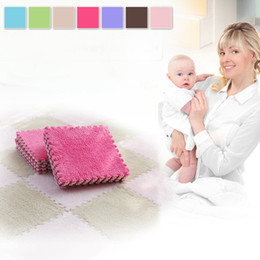 Wholesale Kids Soft Play Mats - Top Selling EVA Foam Floor Mat Kids Soft Developing Crawling Rugs Comfortable Baby Playing Mat Carpet Seven Colors Optional VE0145