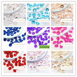 Wholesale Table Decoration Confetti - 18 Colors pick-- 4Carat 10mm Acrylic Beads Diamond Confetti For Wedding Favors Table Scatter Wedding Party Supplies