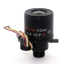 Wholesale Focus Optics - f1.6 1 2.5inch 5MP Varifocal auto focus 6-22mm ir lens M12 mount lens cctv Auto zoom optic lens