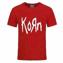 Wholesale Logo Metal M - Free Shipping Summer Mens T shirts Fashion Korn Metal Rock band Logo Graphic T Shirt Cotton O Neck Short Sleeve Size S-XXXL DIY-0067D