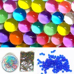 Wholesale Big Sets Beads - 2017 new Water Pearls Puzzle Ocean baby Inflatable toys Flower artifacts Water Beads 10000pcs set C1854