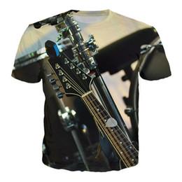 Wholesale Novelty Guitars - 2017 fashion T-shirt Men or Women 3d Tshirt Print New guitar concert hot style Creative Short Sleeve casual T shirt