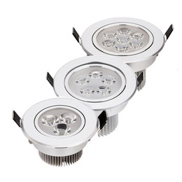 Wholesale Spot Led 21w - 9W 12w 15W 18w 21W AC85V-265V 110V   220V LED Ceiling Downlight Recessed LED Wall lamp Spot light With LED Driver For Home Lighting