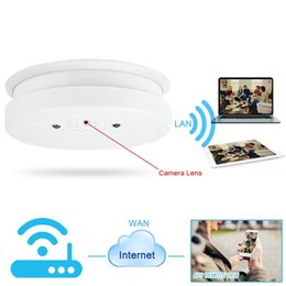 Wholesale Iphone Networking - 8GB 1920x1080P HD Wifi Network Hidden Camera Smoke Detector Motion Detective Security DVR Support iPhone Android APP Remote View Loop Record