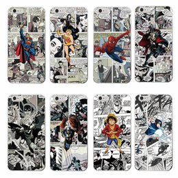 Wholesale iphone 5c cartoon - Cartoons Marvel Comic Spider Man Wonder woman Captain America Soft Phone Case For iPhone 7 7Plus 6 6S 6Plus 5 5S SE 5C