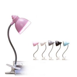 Wholesale Small Night Light Lamps - Mini LED small clip book reading lamp can be twisted night light creative reading lamp bedside table lamp