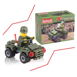 Wholesale Military Car Models - Automobile Assembly Plastic Toys Military Field Model Car Cool Children The Deformation Of Army Green Car Pickup
