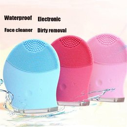 Wholesale Deep Pore Brush - Skin Care Facial Deep Cleaning Waterproof Electric Facial Pore Cleaner Massage Brush Silicone Face Cleansing Brush