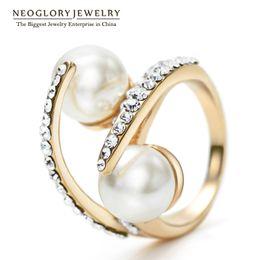 Wholesale Bridal Birthday - Elegant Rhinestone Rings Wedding Brand Designer Bridal Gifts Statement Birthday Fashion Jewelry 2017 New Pea-1 Neoglory