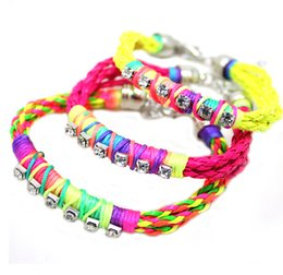 Wholesale Chains For Sale Cheap - Wholesale- Factory Direct Sale Wholesale Cheap Handmade Braid Woven Colorful PU Leather Bracelet for Couple His & Her Jewelry XY-B46