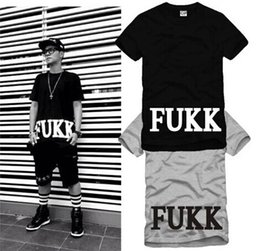 Wholesale Short Scale - Free shipping FRESH.I.AM HOLY FUKK Summer Collection Men T-shirt G-Dragon Hiphop Tee Black Scale Pyrex HBA 100% cotton 6 color