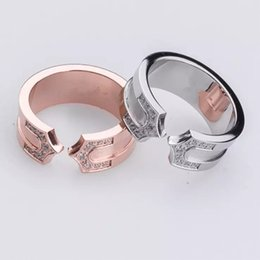 Wholesale Wedding Owns - Classic wedding ring 316L stainless steel with diamond ring for their own best gift never fade