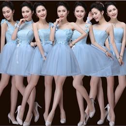 Wholesale Cheap Dresses For Junior Girls - junior cheap ice blue elegant bridemaids girls natural pageant dresses sweetheart bridesmaid dress for wedding guest B3384
