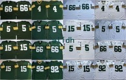 Wholesale Bart Shorts - Retired Player 66 Ray Nitschke Throwback Jersey Vintage 4 Brett Favre 15 Bart Starr 66 Ray Nitschke 92 Reggie White Green Jersey Cheap