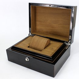 Wholesale Display Boxes Watch Packaging - free ship Brand packaging design custom-made European plastic case Gift Jewelry Bracelet Bangle Display Black Watch box Storage Case Pillow