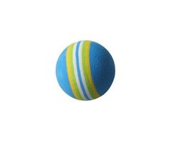 Wholesale Golf Ball Swing - Wholesale- 10pcs+EVA Foam Golf Balls Rainbow Sponge Indoor Practice Training Aid Swing Backyard-Blue