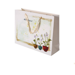 Wholesale Handle Wedding Paper Bag - Paper bags with handles Garment bags for clothes wedding shopping packaging Gift bags customized colorful printing cotton ribbon nylon PB-22