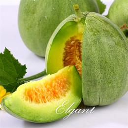 2019 flores impresionantes Green Sweet Melon 20 semillas Crisp Sweet Yummy Fácil de cultivar Non-GMO Heirloom Fruit para Summer Garden