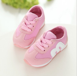 Wholesale Net Running Shoes - 2017 popular fashionable spring and autumn breathable children's school N letter Shoes Boys leisure girl running net cloth M let