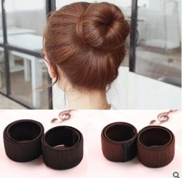 Wholesale Hair Twist Bun Accessories - Hair Accessories Synthetic Wig Donuts Bud Head Band Ball French Twist Magic DIY Tool Bun Maker Sweet French Dish Made Hair Band