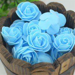 Wholesale Diy Artificial Mini Foam Flower - Wholesale- 100PCS Bag Mini PE Foam Rose Flower Head Artificial Handmade DIY Wedding Home Decoration DIY Scrapbooking Rose Flower Kiss Ball