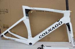 Wholesale Carbon Race Frame - colnago concept 6 color choise white black carbon fiber frame 2017 road bike frame carbon fiber framset racing bicycle BB30 BB68 adapter