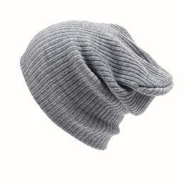 2016 Nova Moda Feminina Homens De Tricô Beanie Esqui Hip-Hop Inverno Quente Caps Unisex 6 Cores Chapéus Para As Mulheres Feminino osso de