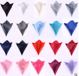 Wholesale Wedding Ties For Men Green - hot sale cravat for Men suits pocket towels solid color handkerchiefs small square wedding banquet tie free shipping