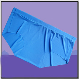 Wholesale Men Boxer Briefs Lycra - Men's Briefs Sexy Underwear Comfortable No-Crotch-Stitching Underwear Men Boxer Seamless Ice Silky Boxers Men Underwear