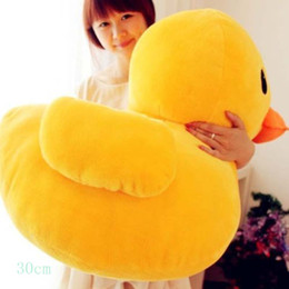 "Wholesale Toy Yellow Soft Duck - 30cm(12"") Giant Yellow Duck Stuffed Animal Plush Soft Toys Cute Big Yellow Duck Plush Kids Toys For Birthday Gift Baby Doll"