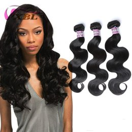 Wholesale Wavy Hair Machine - XBL Body Wave Human Hair Extensions Wet And Wavy Virgin Brazilian Hair 3 4 Pieces One Set