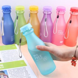 Wholesale Drinking Bottle Bpa - Wholesale- Hot 550ML BPA Free Portable Leak-proof Water Bottle Outdoor Bicycle Sports Drinking Fruit Infuser Plastic Water Bottles -48