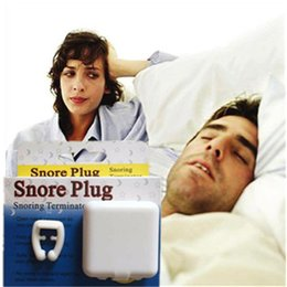 Wholesale Magnetic Anti Snoring Clips - 3boxes lot High Quality Sleep Apnea Aid Stop Snoring Safe Anti-snore device Silicone Magnetic Nose Clip