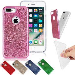 2019 iphone ice Pour iPhone i7 7 plus modèle de glace craquelée électrolytique hybride Shockproo étuis de couverture arrière promotion iphone ice